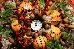 Christmas Eve And New Years At Midnight Stock Photography