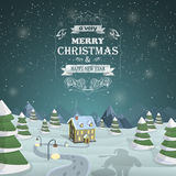 Christmas Eve background vector illustration. Stock Image
