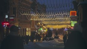 Christmas Eve, Brasov, Romania stock video