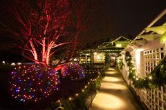 Christmas Eve in the Butchart Gardens, Victoria, BC. Canada Stock Image