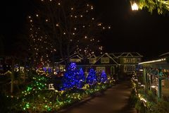 Christmas Eve in  Butchart Gardens Royalty Free Stock Image