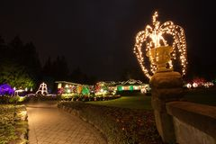 Christmas Eve in  Butchart Gardens Royalty Free Stock Images