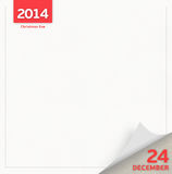 Christmas Eve calendar page. 24 December - Christmas Eve day calendar page Stock Photography