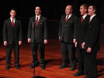 Christmas Eve Carol Singers Stock Image