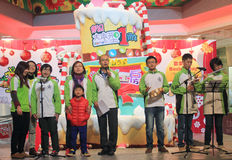 Christmas eve caroling event in Domain Mall Hong Kong Royalty Free Stock Image