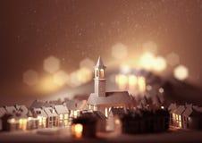 Christmas Eve Church vector illustration