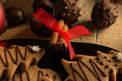 Christmas eve with cookies Stock Photos