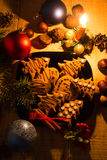 Christmas eve with cookies Royalty Free Stock Photo