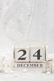 Christmas Eve Date On Calendar. December 24 Stock Photography