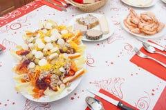 Christmas eve dinner Royalty Free Stock Photos