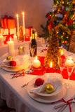 Christmas Eve dinner for the whole family Royalty Free Stock Image