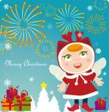 Christmas Eve fireworks. Illustration of Christmas Eve fireworks Stock Photo