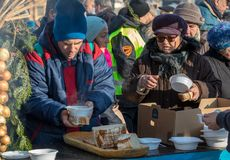 Free Christmas Eve For Poor And Homeless On The Main Square In Cracow. Stock Photography - 107808952