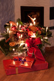 Christmas Eve. Gifts on a table at christmas eve Stock Images