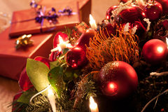 Christmas Eve. Gifts on a table at christmas eve Stock Photography