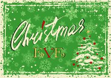 Christmas eve greeting card Royalty Free Stock Photo