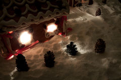 Christmas eve in the honey-cacke village royalty free stock image