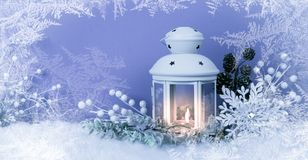 Free Christmas Eve Lantern And Decorations Background Stock Photography - 102967712