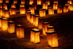 Christmas Eve Luminarias Royalty Free Stock Images