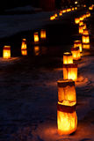 Christmas Eve Luminarias Stock Photo