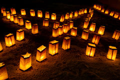 Christmas Eve Luminarias Stock Photos
