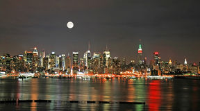 christmas eve manhattan skyline Στοκ Εικόνες