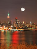 christmas eve manhattan skyline Στοκ Εικόνα