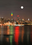 christmas eve manhattan skyline Στοκ Φωτογραφία