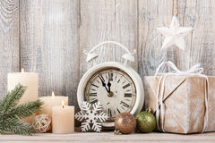 Christmas eve and New Year. Background Royalty Free Stock Photo