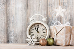Christmas eve and New Year background. Copy space Royalty Free Stock Image