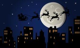 Christmas eve night stock illustration