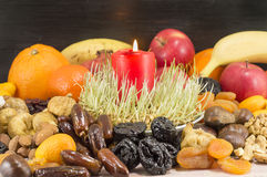 Christmas Eve offerings served on the table Stock Photography