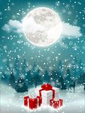 Christmas eve with presents royalty free stock photos