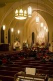Christmas Eve service. At a Catholic church stock image