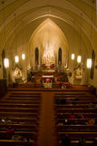 Christmas Eve service. At a Catholic church royalty free stock images