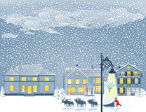 Christmas Eve in snow Royalty Free Stock Photos