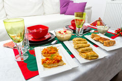 Christmas eve table for two Stock Photos