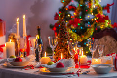 Christmas Eve table Stock Photography