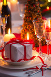 Christmas Eve table waiting for guests Royalty Free Stock Images