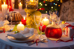 Christmas Eve table waiting for guests Royalty Free Stock Photos