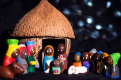 Christmas eve in traditional, cultural african style. stock images