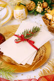 Christmas eve wafer Stock Images