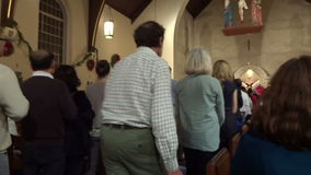 Christmas Eve Worshipers at Communion stock video