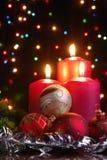 Christmas evening stock image