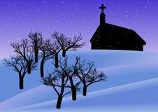 Christmas Evening Background vector illustration