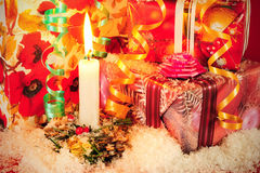 Christmas evening background Royalty Free Stock Photography