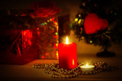 Christmas evening background Stock Photos