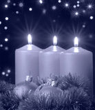 Christmas evening blue tone Royalty Free Stock Image