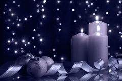 Christmas evening blue tone Royalty Free Stock Photos