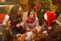 Christmas evening Stock Images